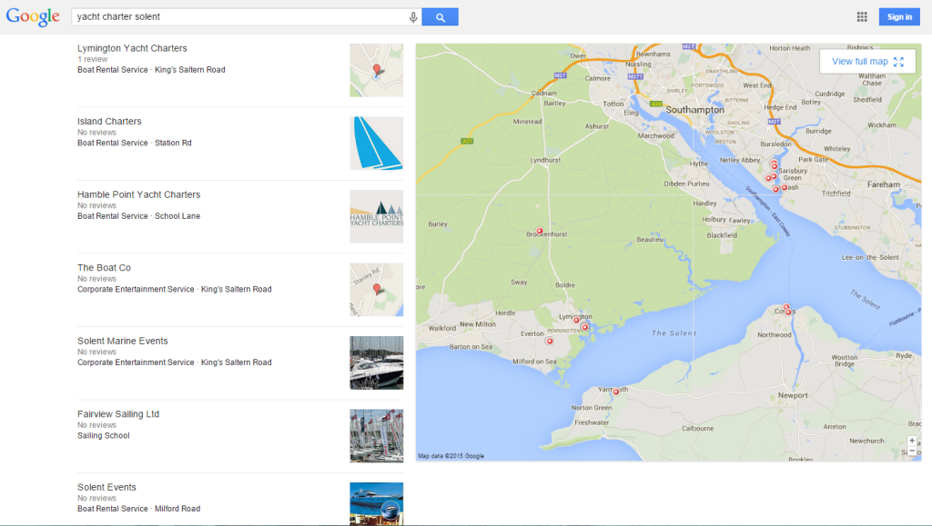 Google Local Pack SERP