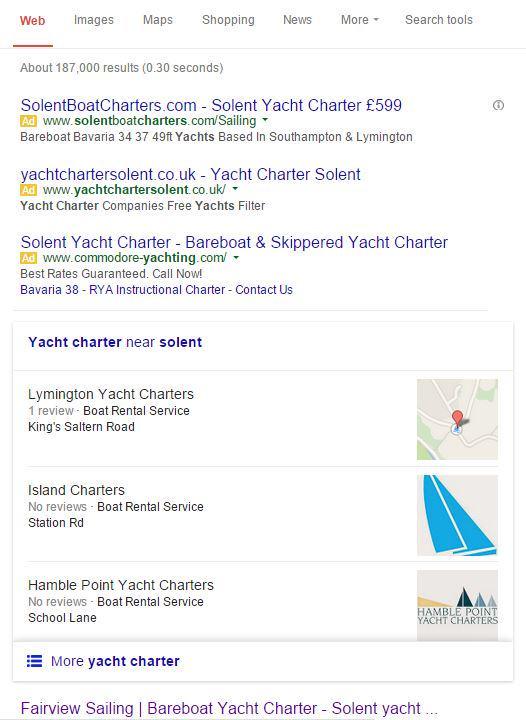 nowe wyniki lokalne Google