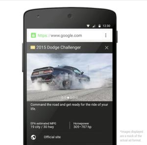 Reklama samochodu AdWords