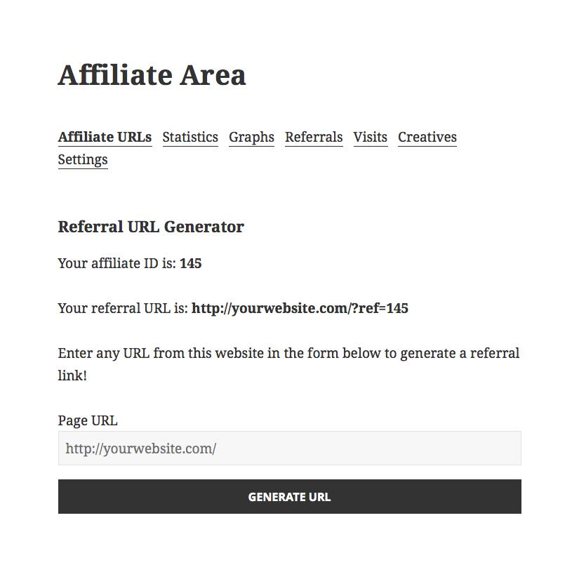 affiliatewp url generator