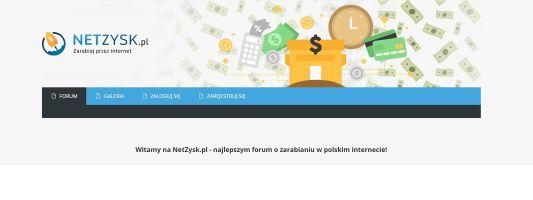 NetZysk.pl - najnowsze forum o zarabianiu pieniędzy online