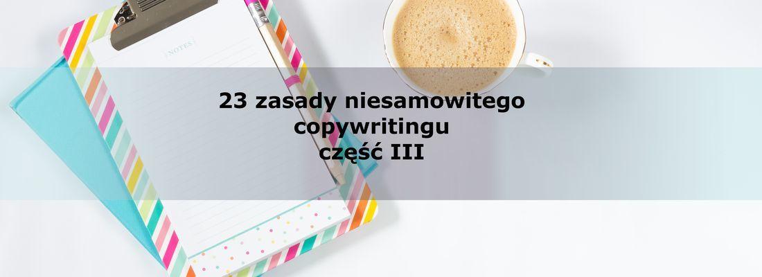 23 zasady niesamowitego copywritingu