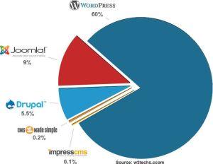 wordpress udział w rynku