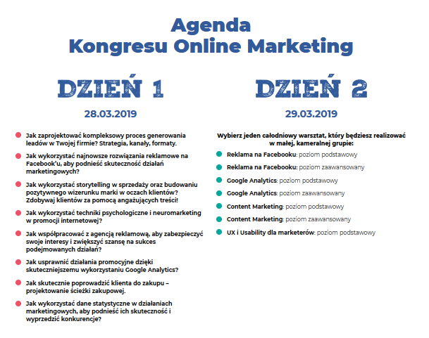 Agenda Kongresu Online Marketing